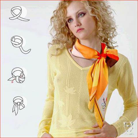 Как завязывать шарф, платок.
